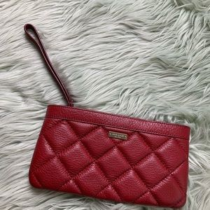 Kate Spade Red Leather Wristlet